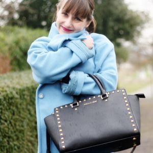 Le manteau bleu ciel + résultat concours Hema