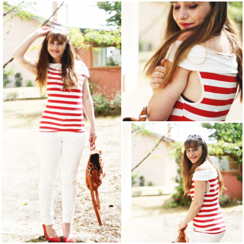 top-promod-rayures-rouges-pantalon-mango-ete-2012-blog-modeuse-aurelia-3