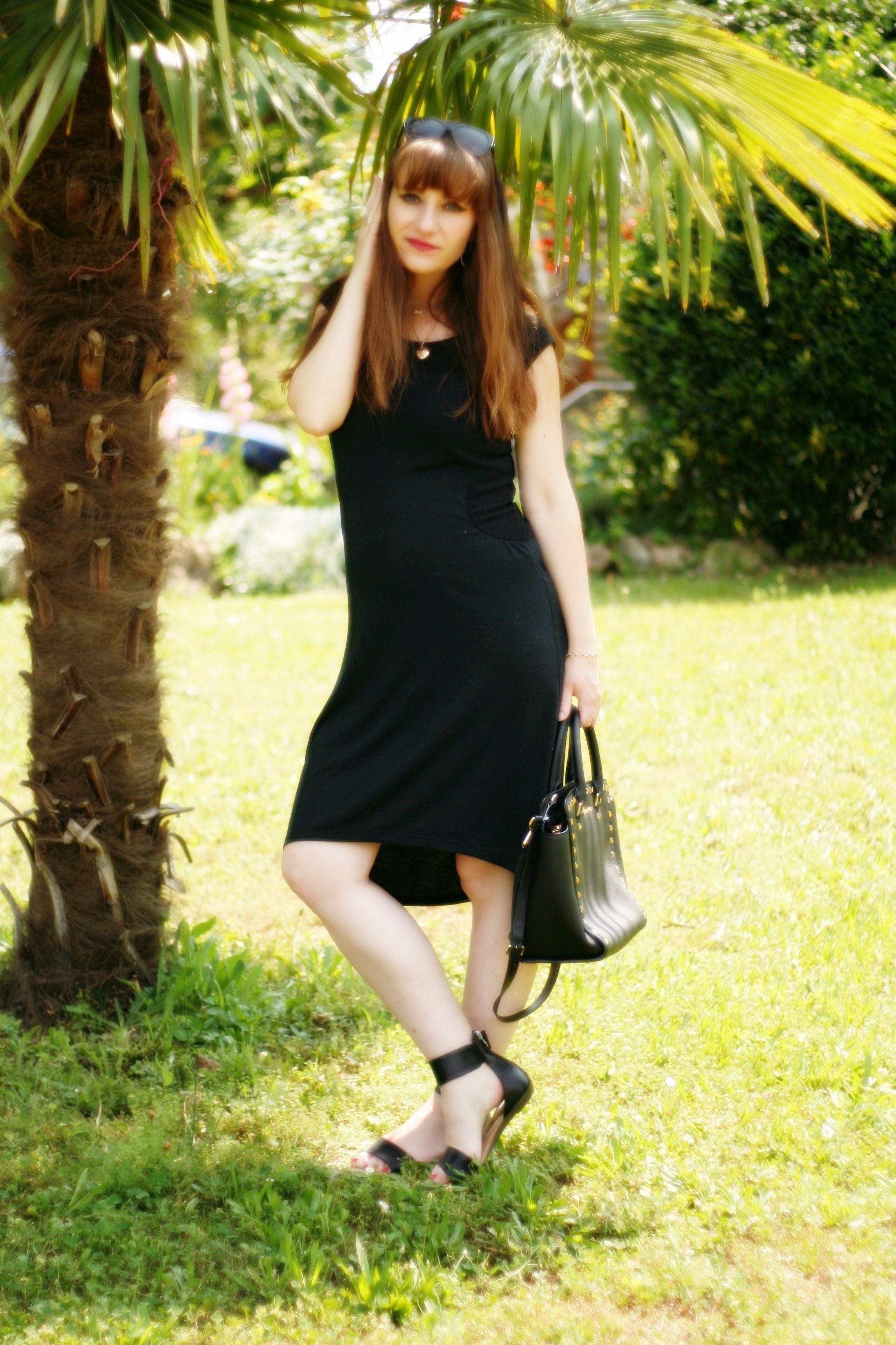robe femme enceinte robe noire blogueuse mode