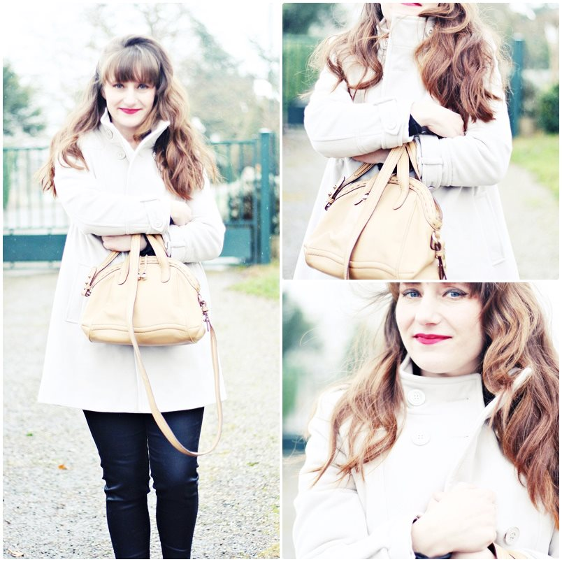 look manteau blanc