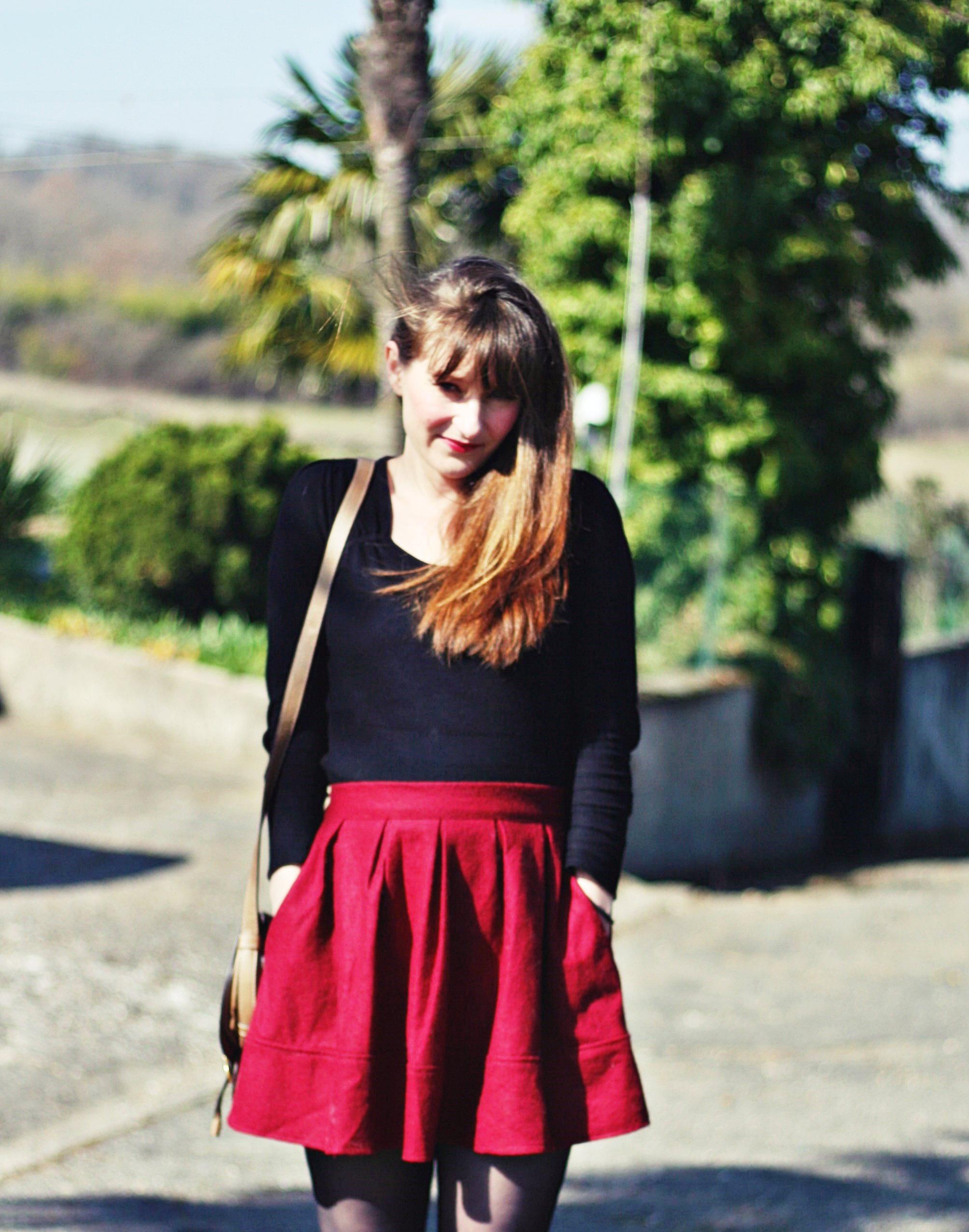 jupe rouge-aureliablogmode