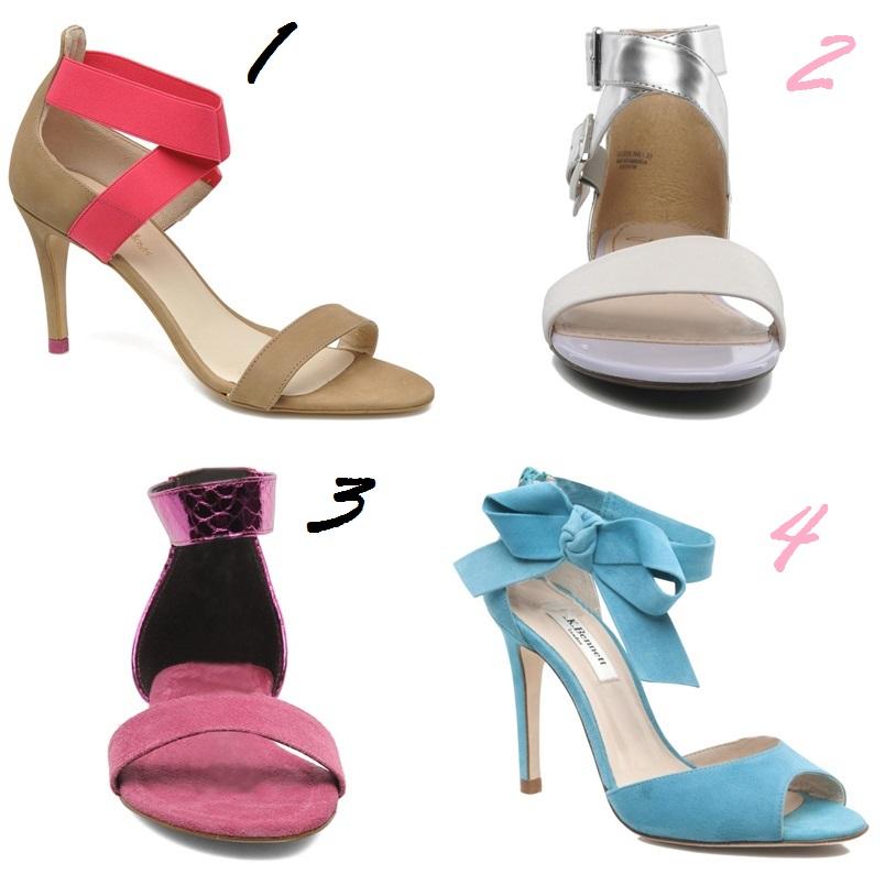 sandales pastels