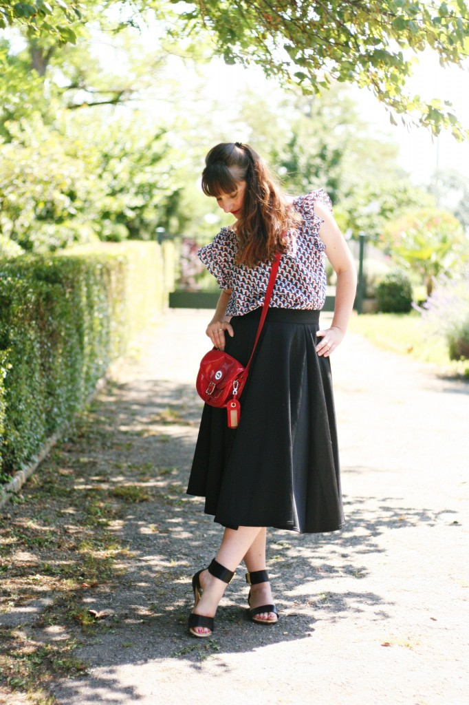 top paul and joe sister blog mode street style sac longchamp rouge