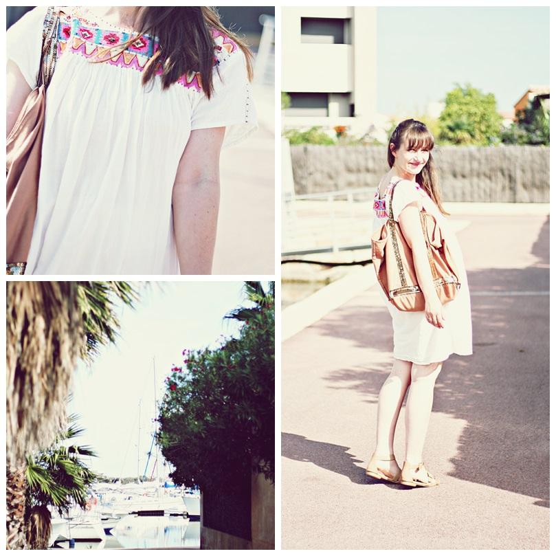 toujours l'été robe ethnique sud express saint cyprien plage