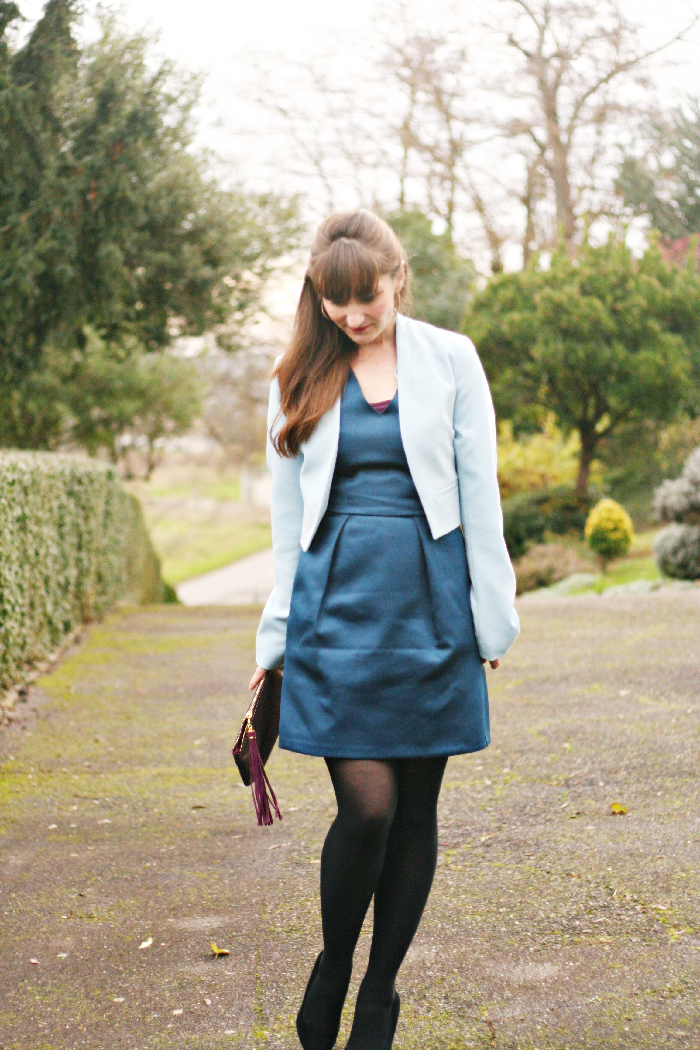 tenue coktail-blogmode-robesatin-newlook