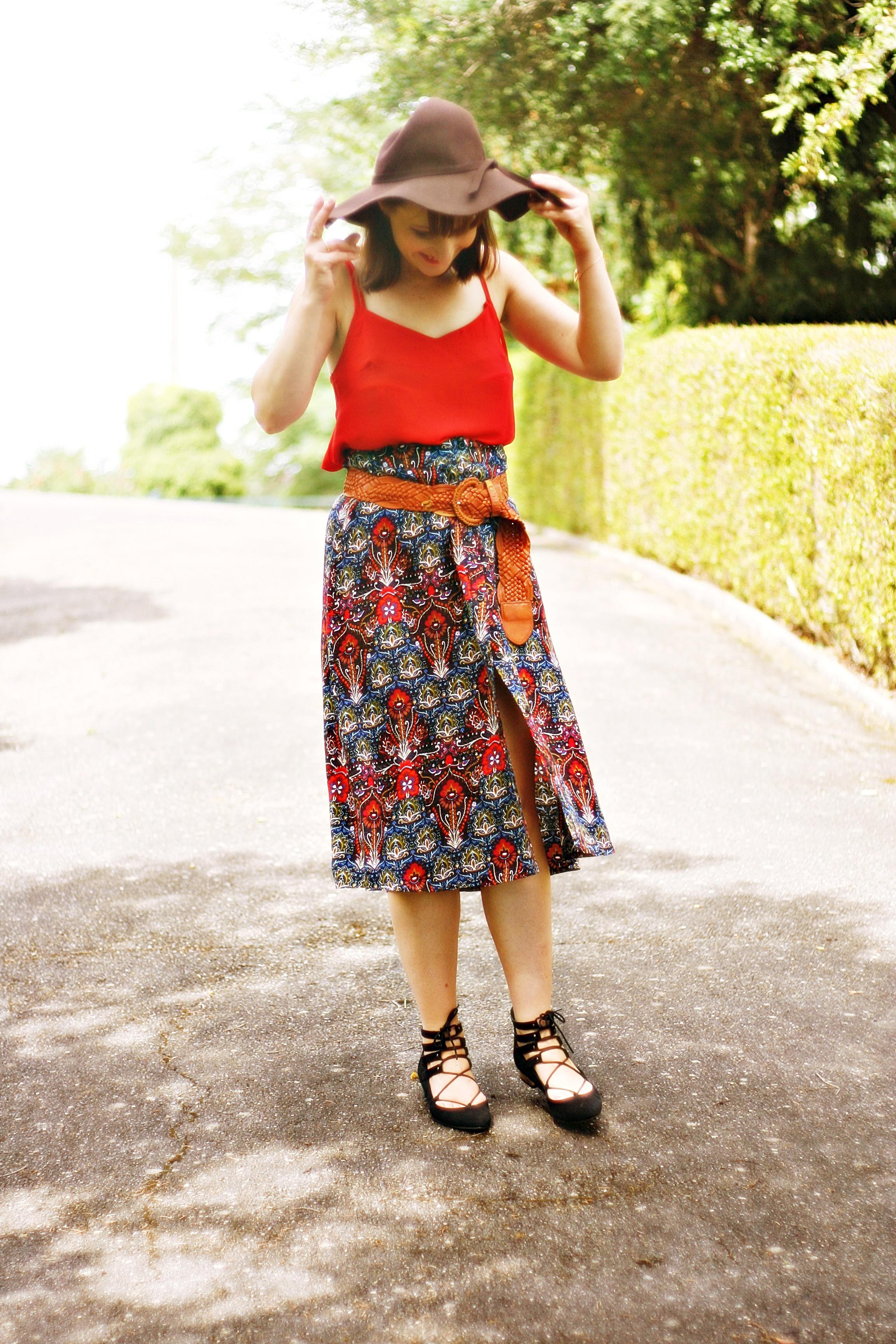 look-jupe-imprimée-blog-mode-femme-toulouse-capeline-chaussuresàlacets-streetstyle-ballerineslacets