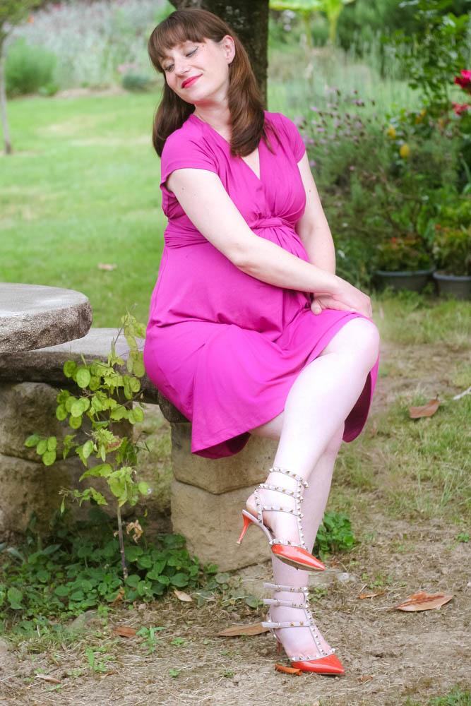 Bien-aimé look de grossesse : la robe fushia Séraphine - Aurélia blog mode HO01