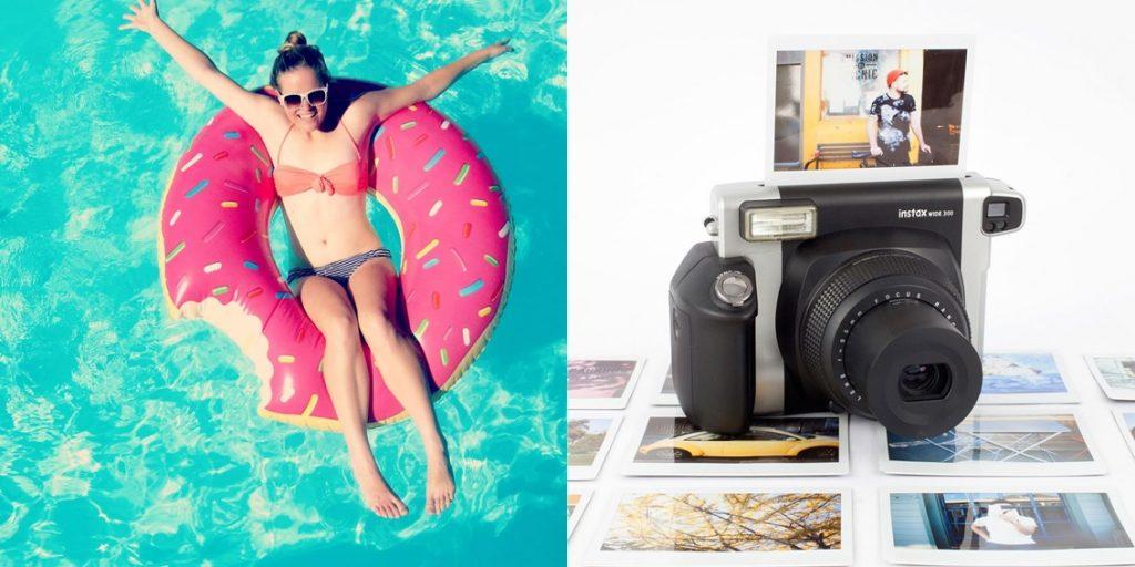 cadeau-original-blog-lifestyle-idee-de-cadeau-appareil-photo-instantané-fuji-bouée-geante-donut