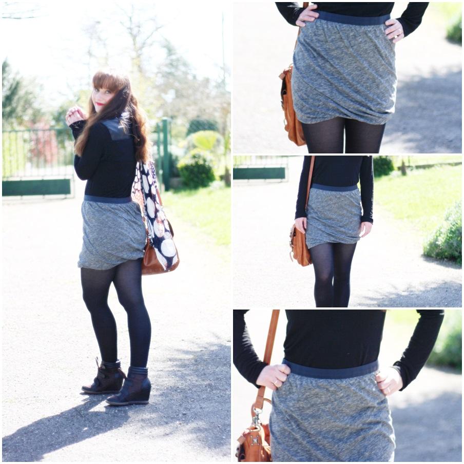 jupe drapee blog mode