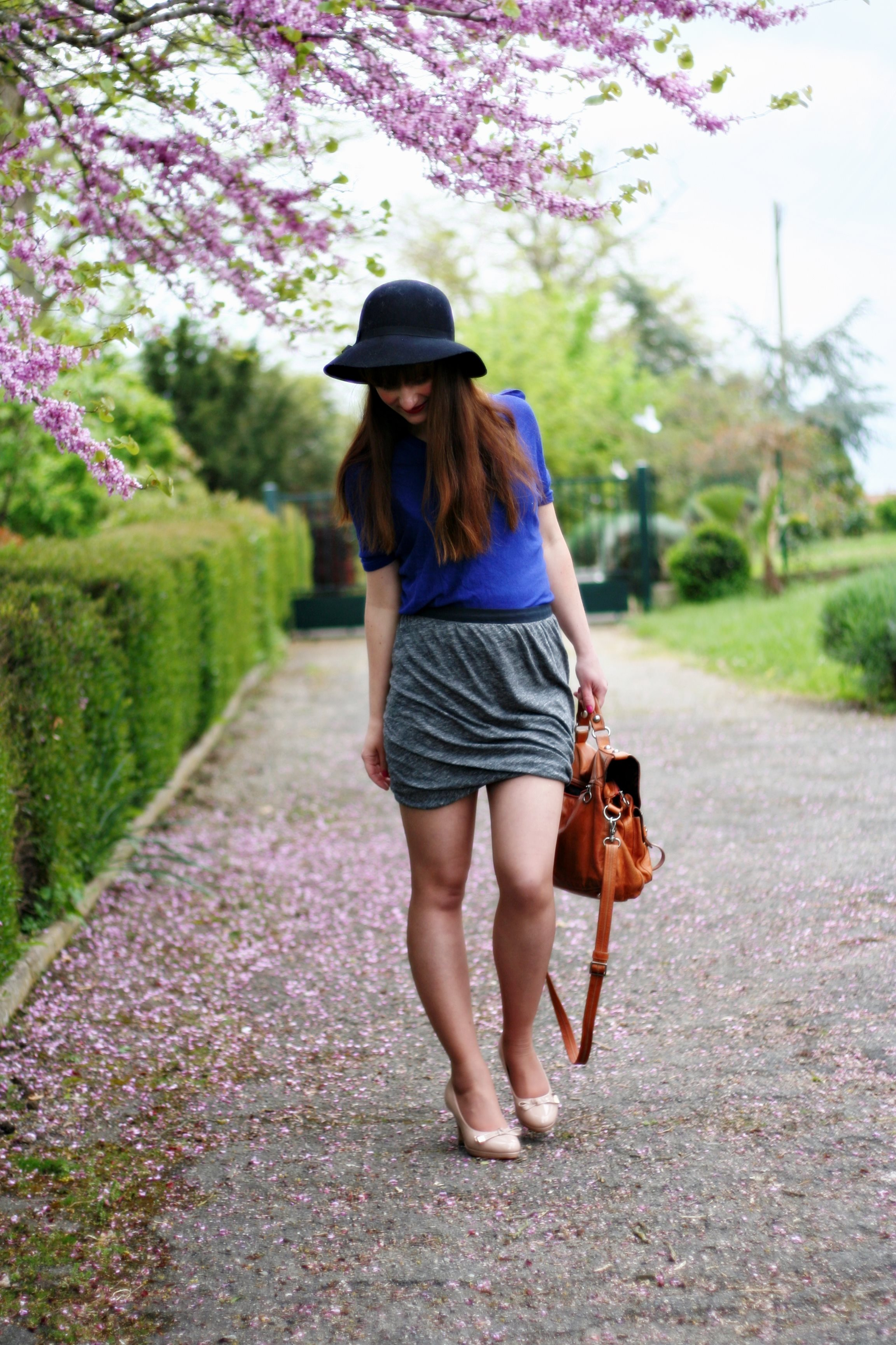 jupe -drapée -american- vintage