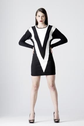 sheath dress in cotton knit-1