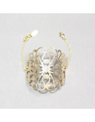 bracelet-chrysantheme-plaque-or