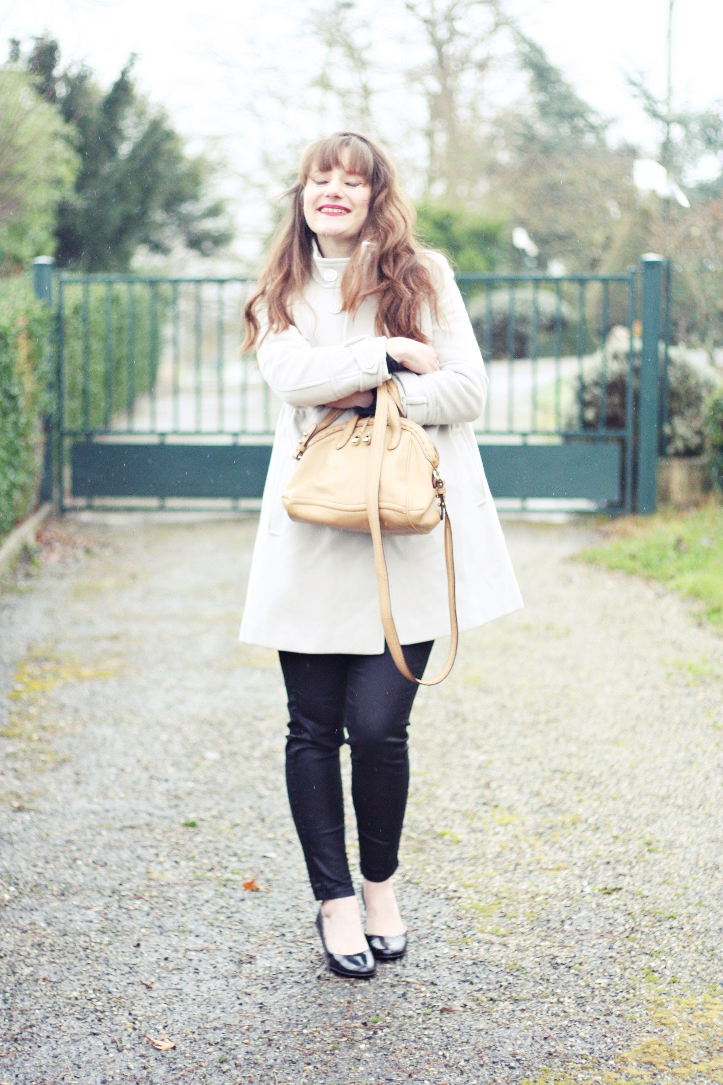 look manteau blanc