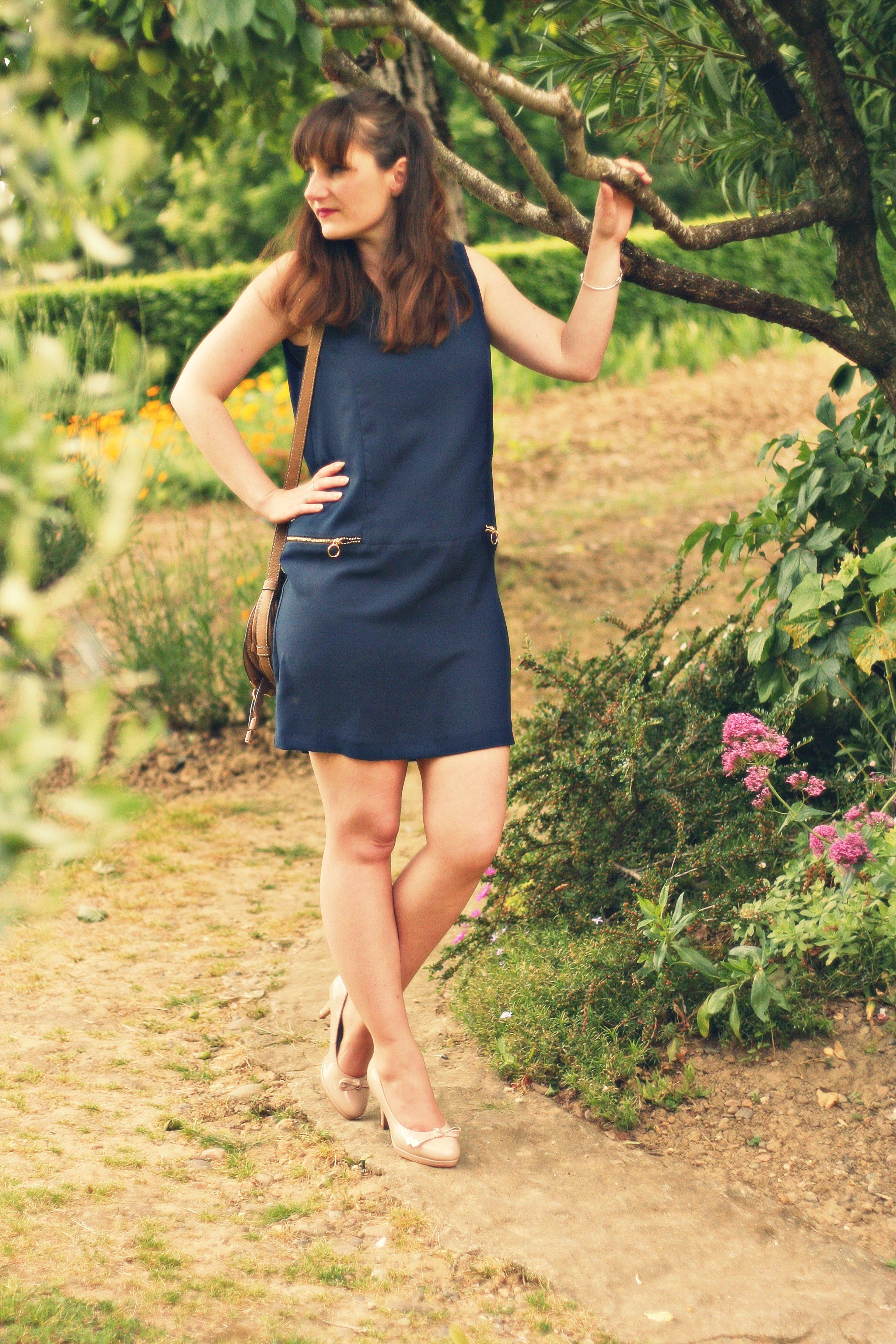 robe rétro zara blog mode sac chloé marcie