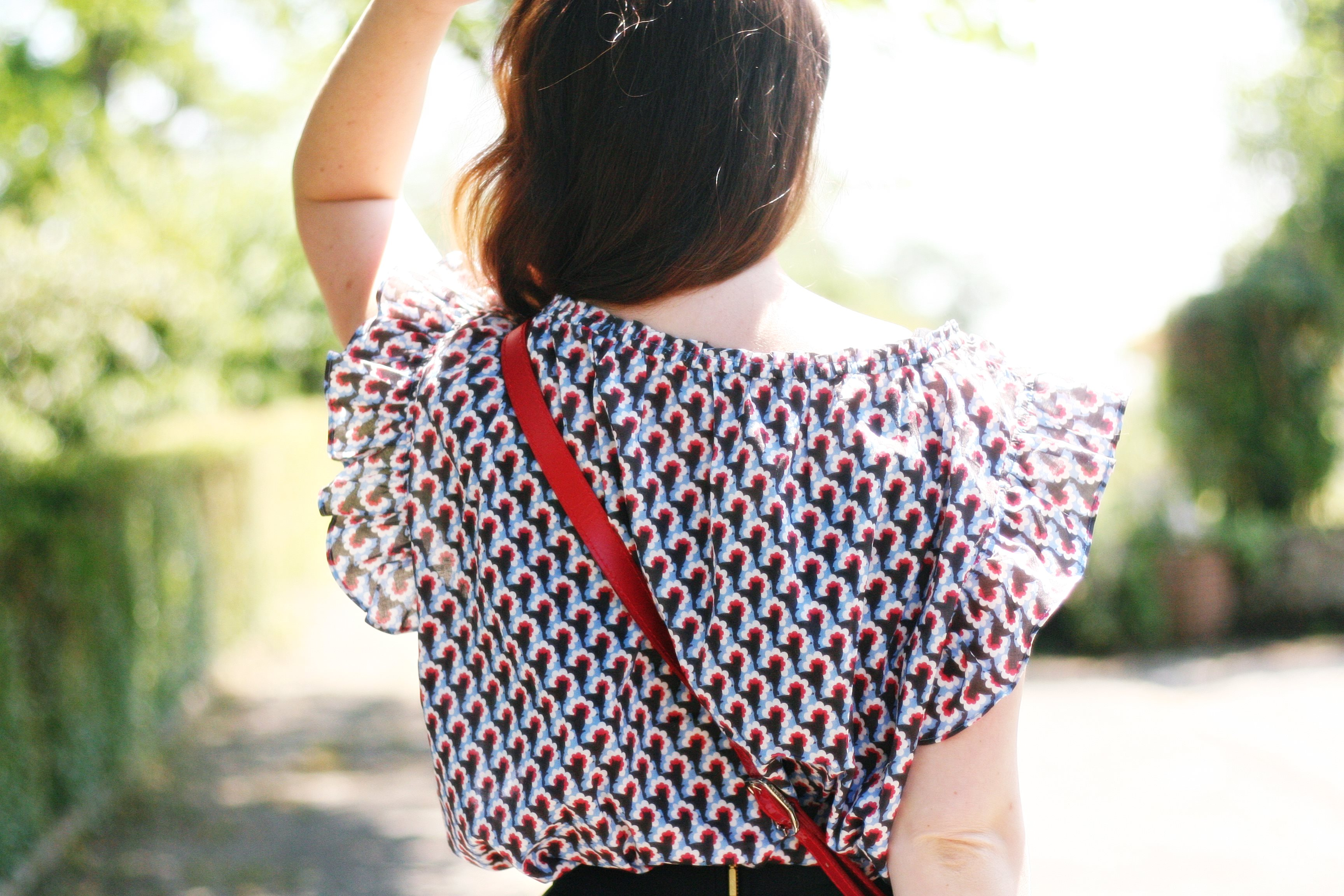 top paul and joe sister motif chat blog mode street style sac longchamp rouge