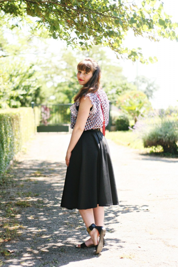 top paul and joe sister blog mode street style sac longchamp rouge