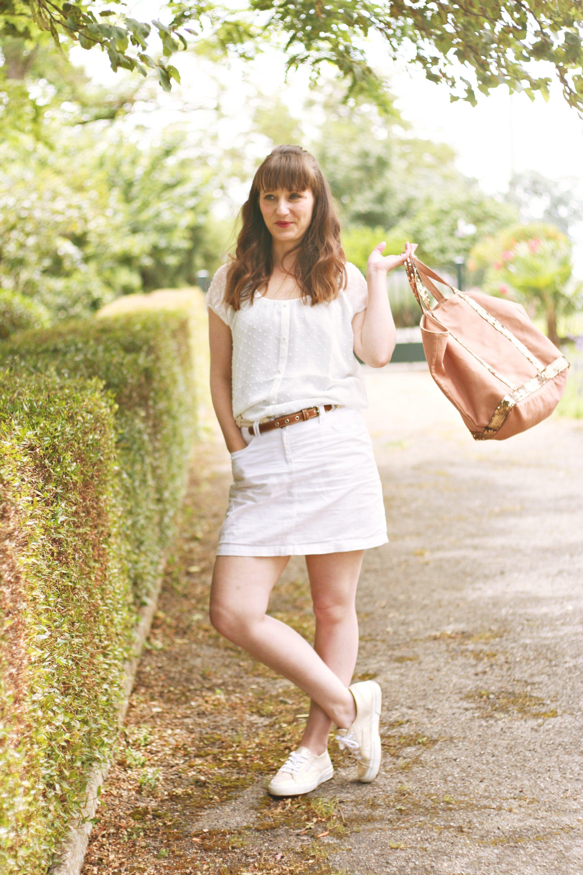look blanc cabas vanessa bruno baskets superga