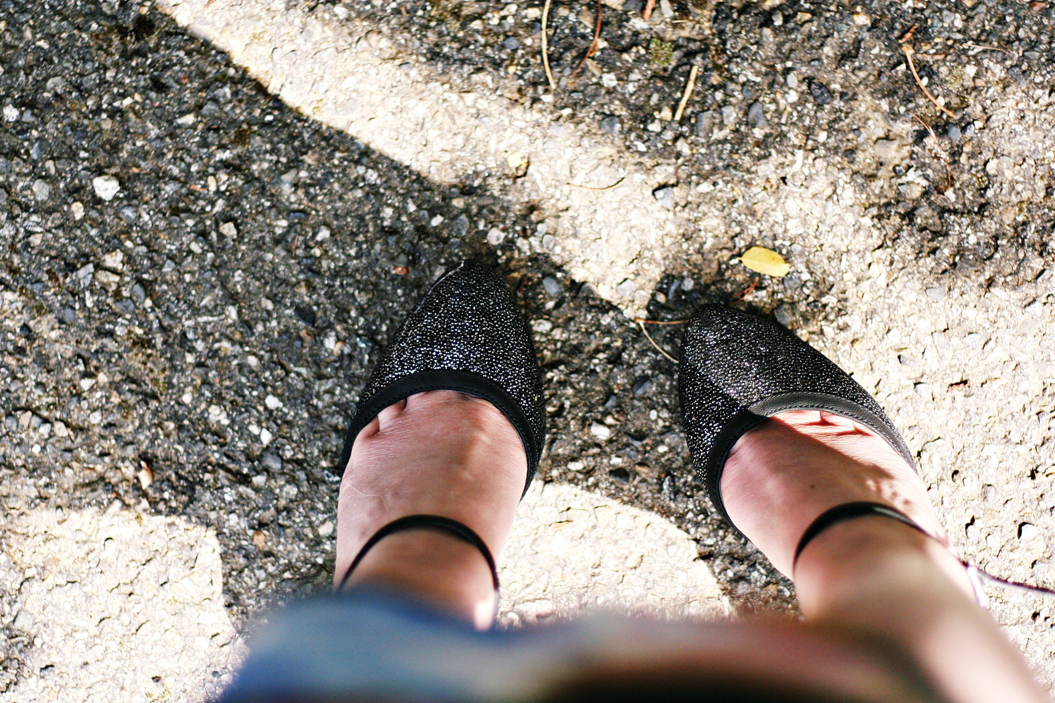 escarpins glitter blog mode