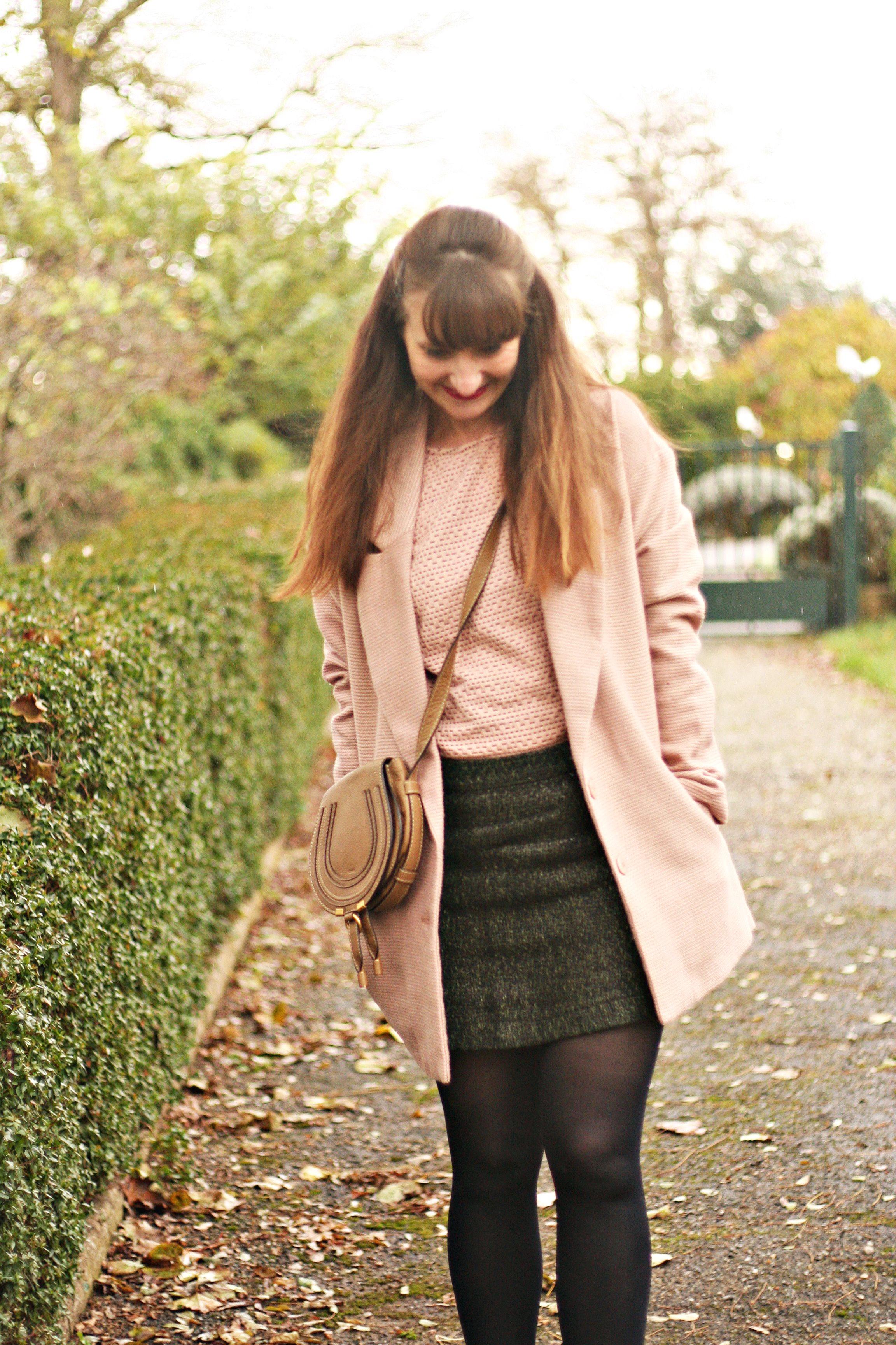look rose vintage manteau rose