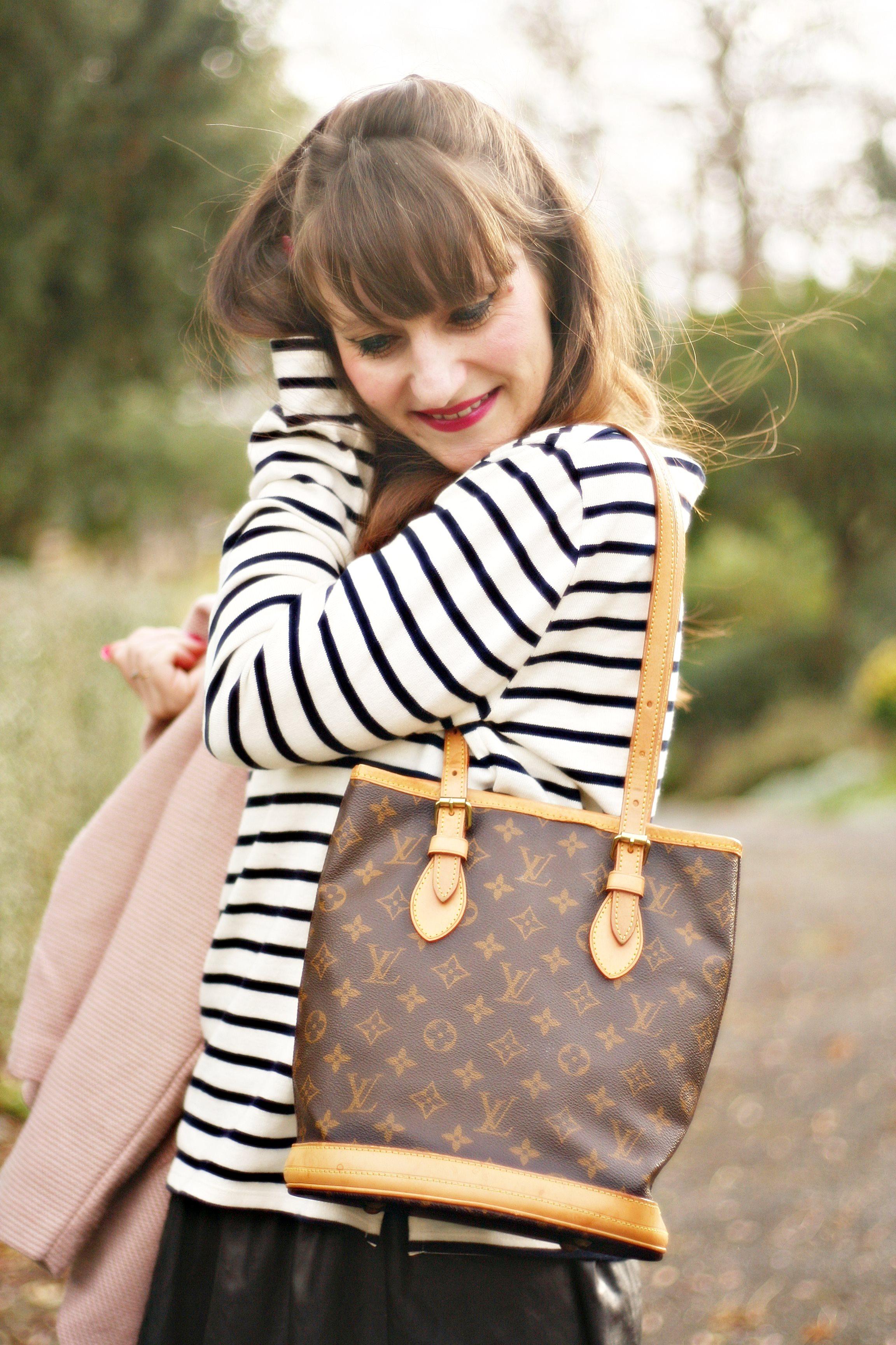 street style sac louis vuitton bucket petit modele blog mode