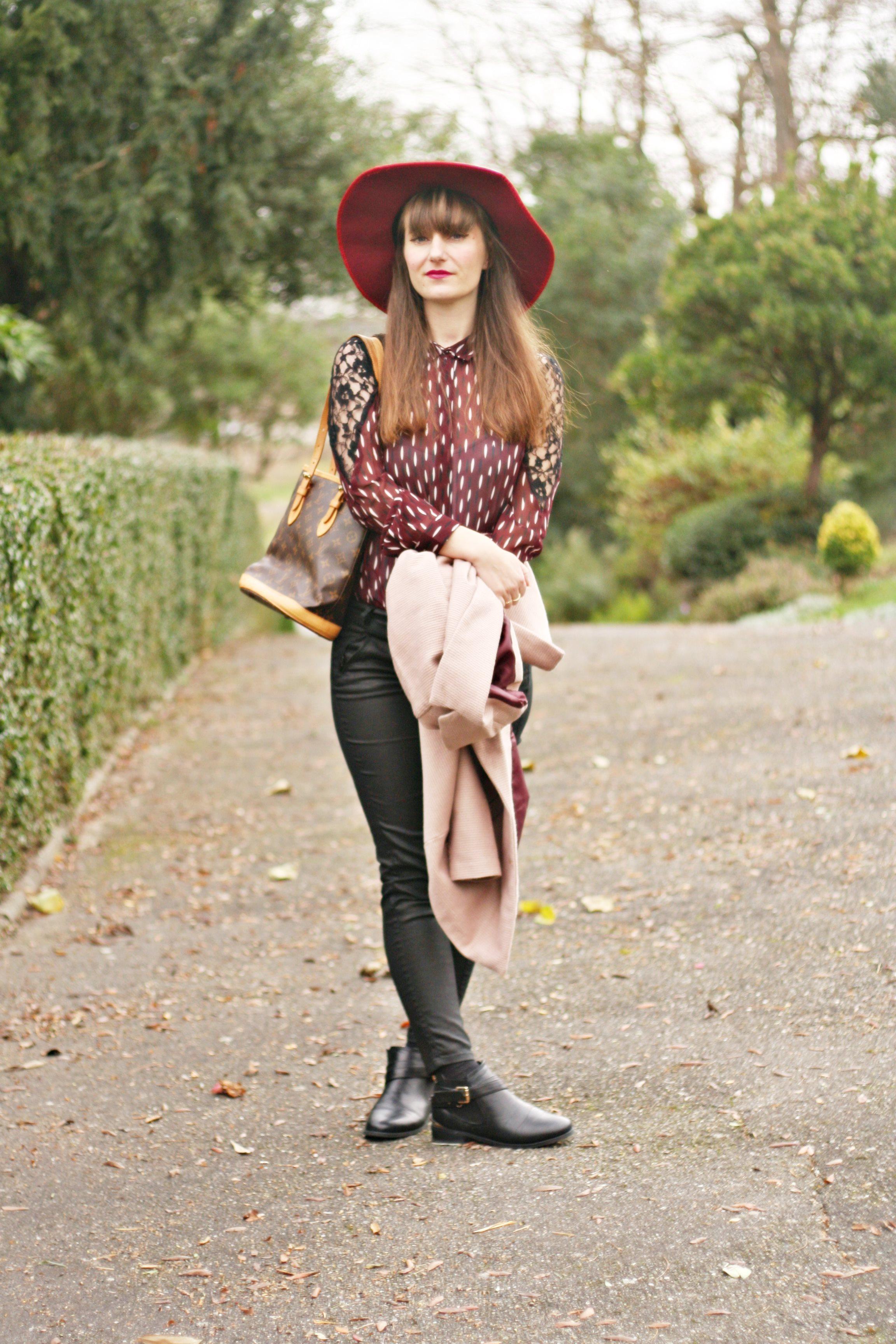 look chemise prune capeline vero moda street style vero moda chemise