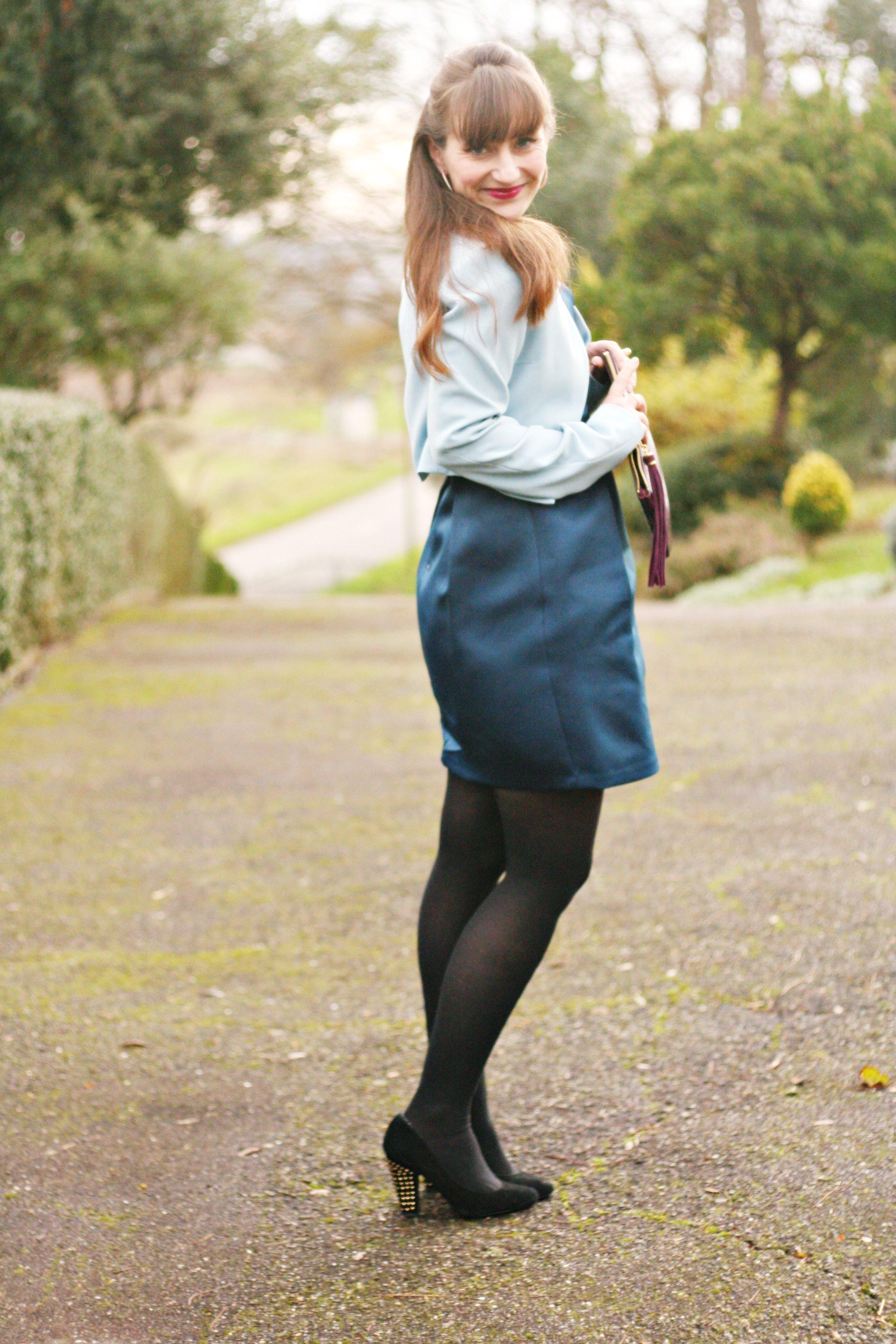 tenue coktail-blogmode-robesatin-newlook