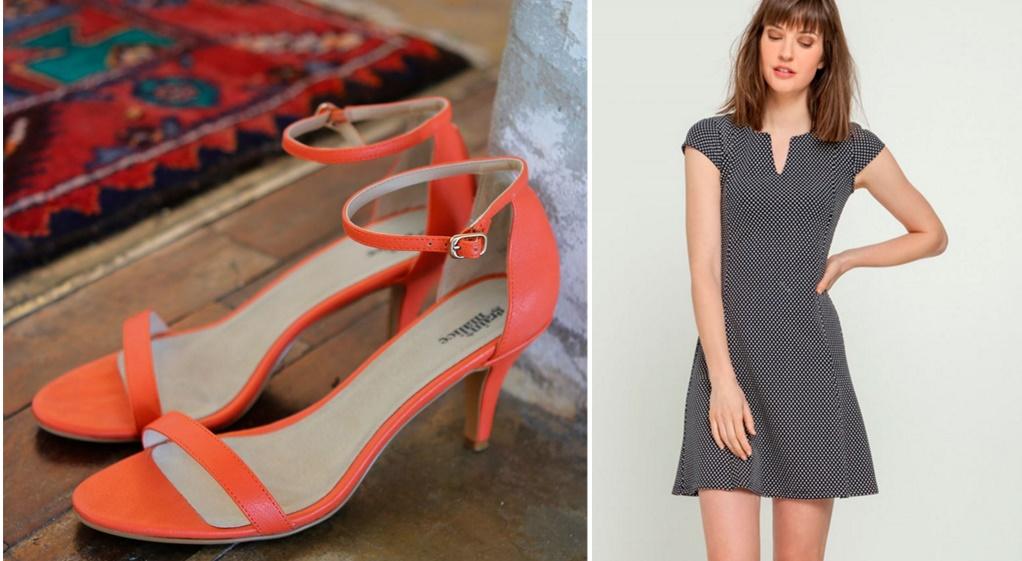 pièces-tendances-mode-printemps-été-2016-grain-de-malice-robe-patineuse-chic-sandales-brides-orange-peits-prix-jean-blog-mode