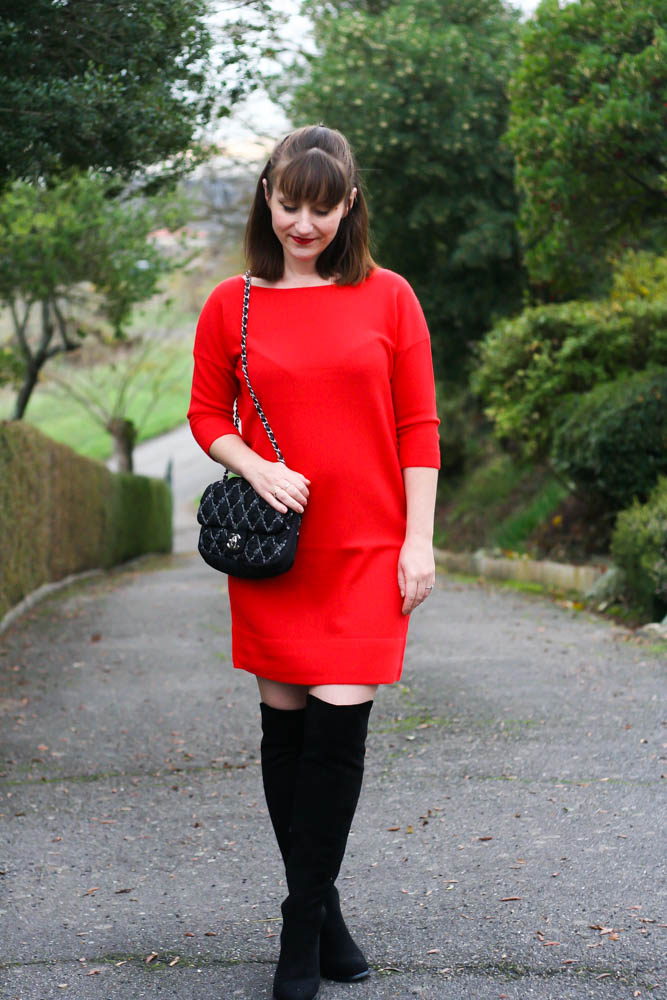blog-mode-look-robe-rouge-cuissardes-chanel-timeless-blog-mode-toulouse